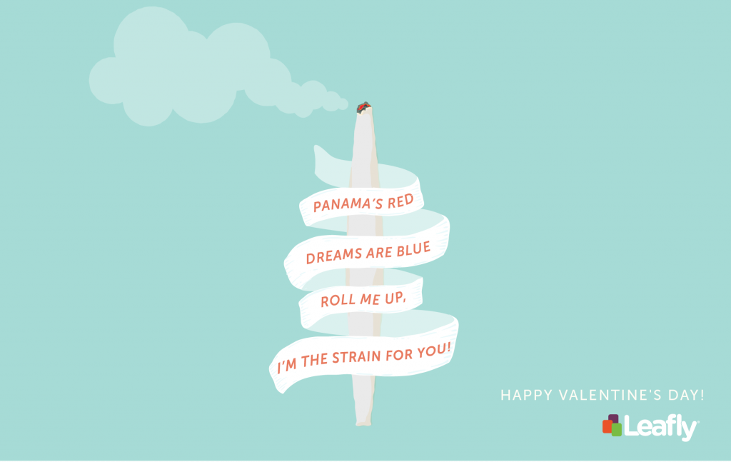 Leafly Valentine's Day poem design