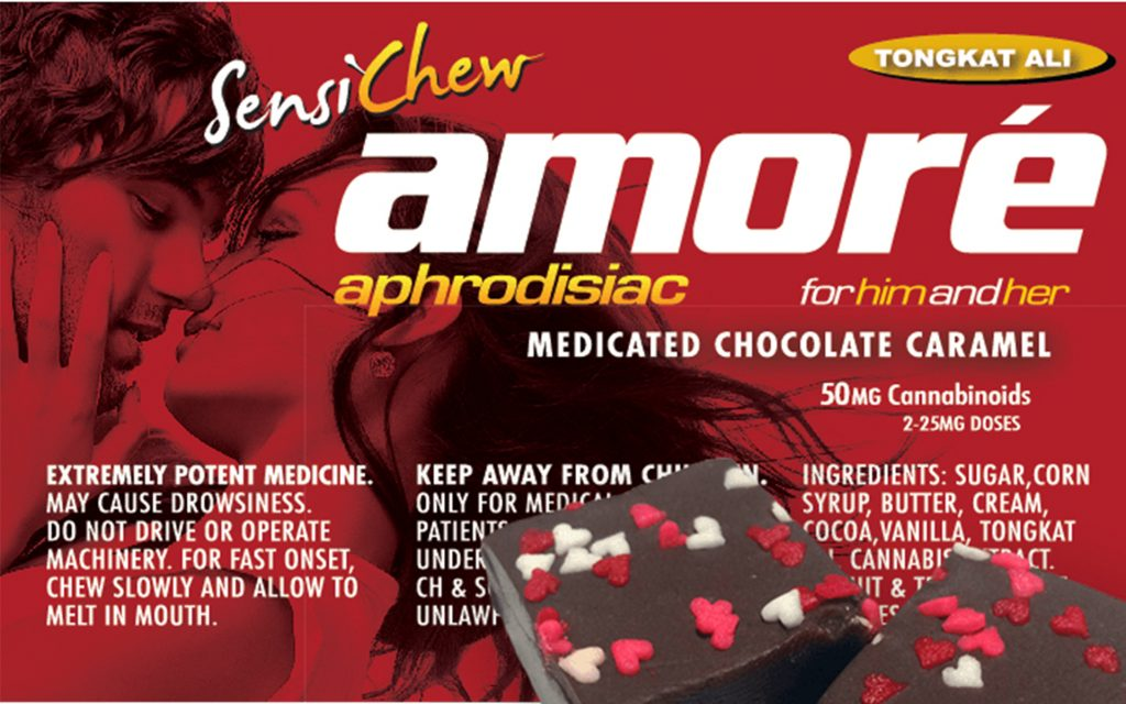 Sensi Chew Amoré Aprodisiac Medicated Chocolate Caramel - California - Product Review