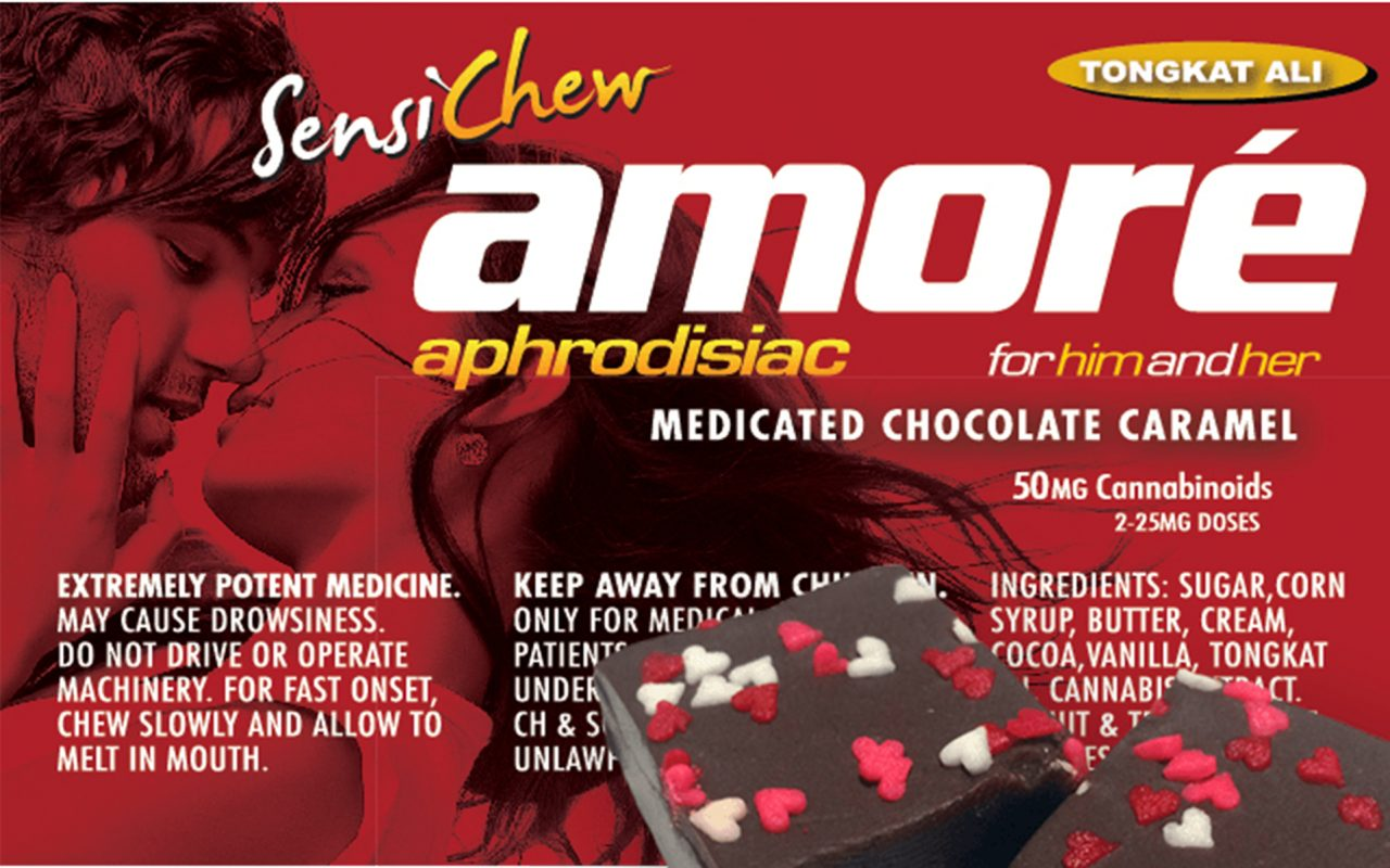 Sensi Chew Amoré Aprodisiac Medicated Chocolate Caramel - California - Product Review