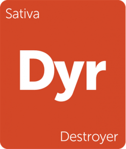 Destroyer Leafly cannabis strain tile