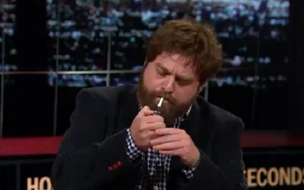 Watch This: Zack Galifianakis Smokes a