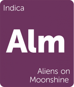 Alm Aliens on Moonshine Leafly cannabis strain tile