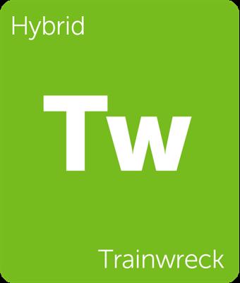 Leafly Trainwreck hybrid cannabis strain
