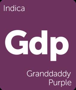 Leafly Granddaddy Purple indica cannabis strain