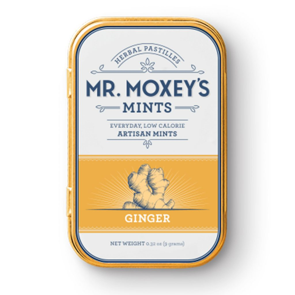 Weed Microdosing Edible Product #4: Ginger CBD Mints by Mr. Moxey's Mints