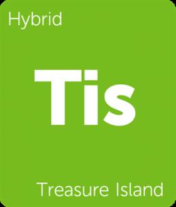 Tis Treasure Island Leafly cannabis strain tile