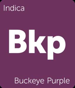 Leafly Buckeye Purple indica cannabis strain