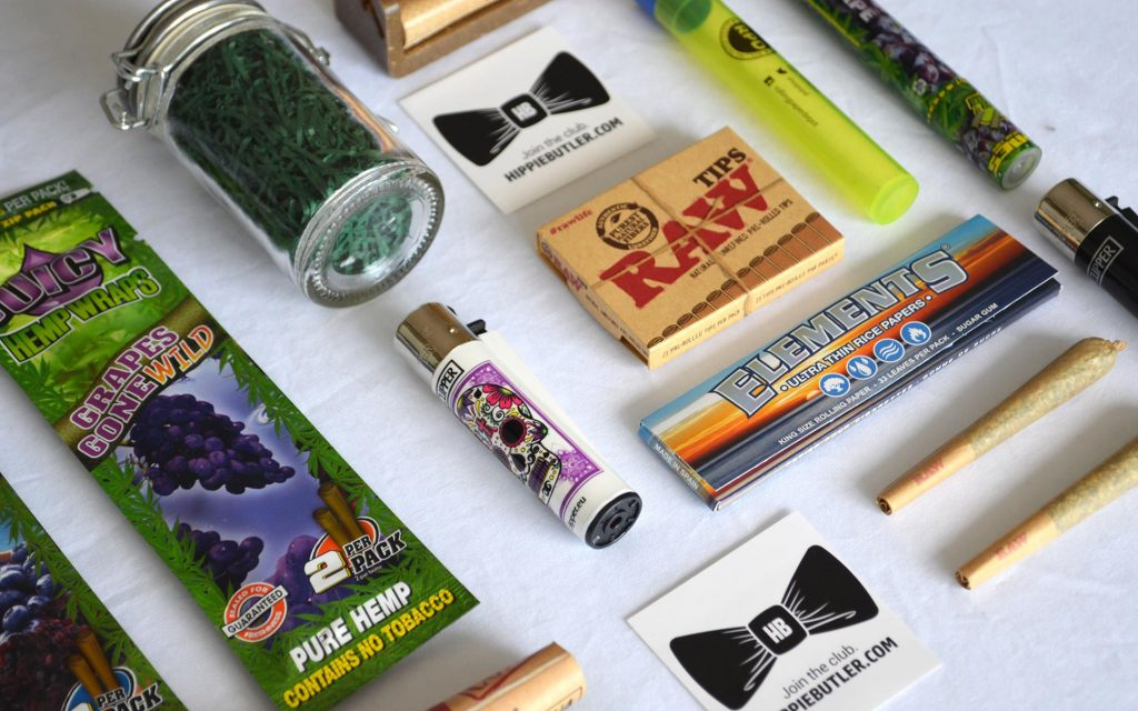 The Hippie Butler includes weed essentials for concentrates and flower