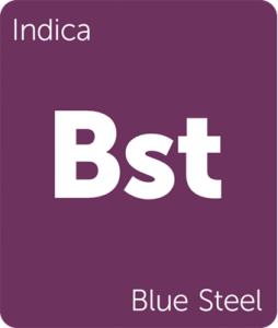 Leafly Blue Steel indica cannabis strain