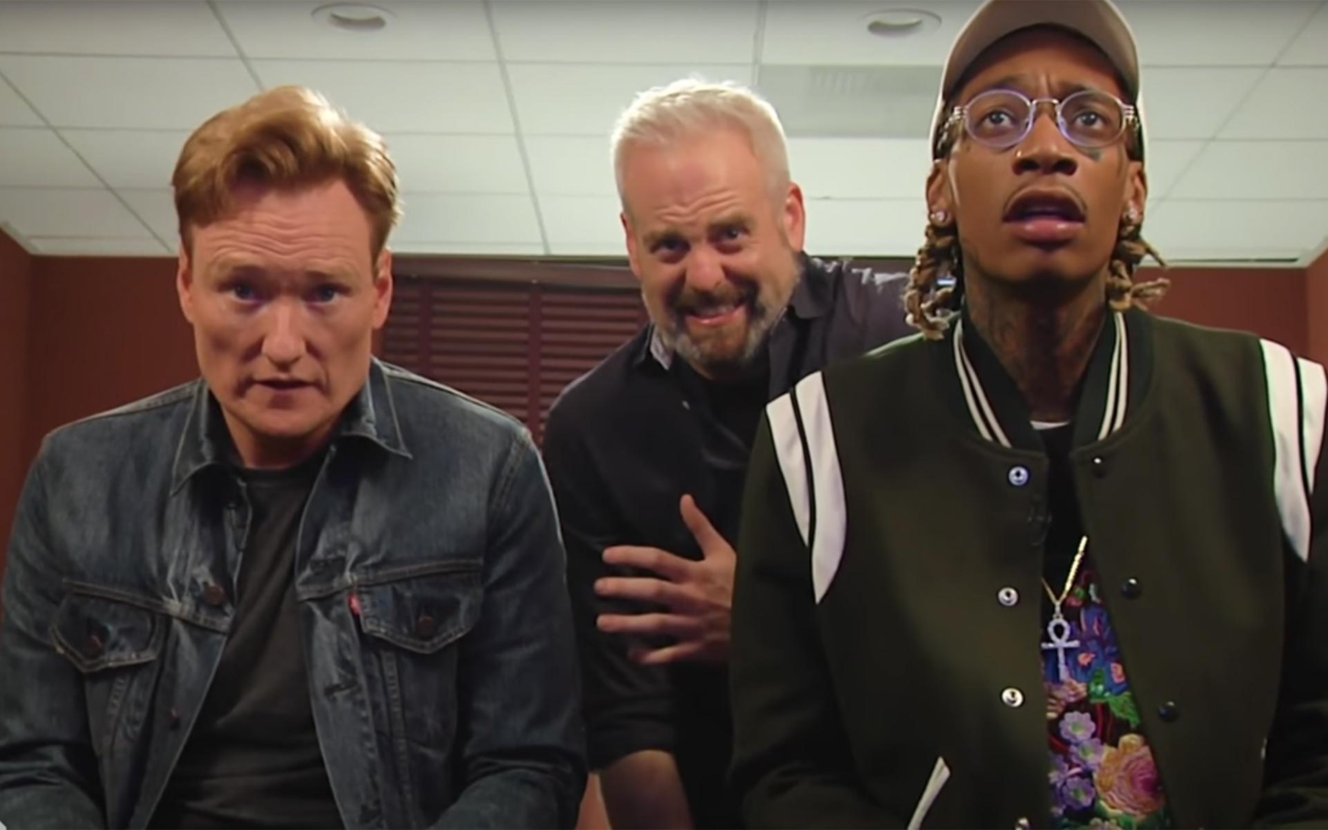 Watch This: Conan and Wiz Khalifa Get High, Play 'Gears of War 4', Eat Potato Salad
