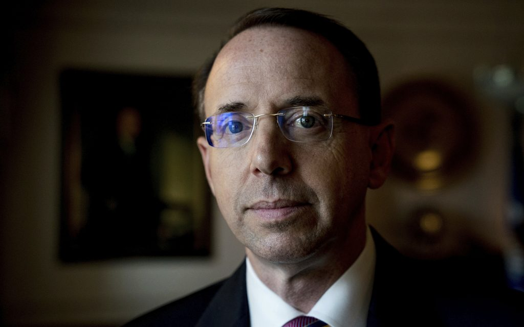 Deputy Attorney General Rod Rosenstein: 'Marijuana is an unlawful drug.' (AP Photo/Andrew Harnik)