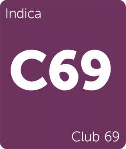 C69 Club 69 Leafly cannabis strain tile