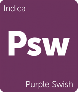 Leafly Purple Swish indica cannabis strain