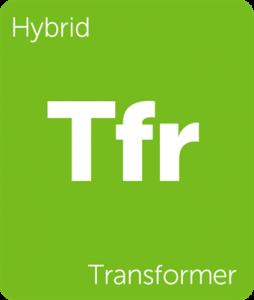 Transformer Leafly cannabis strain tile