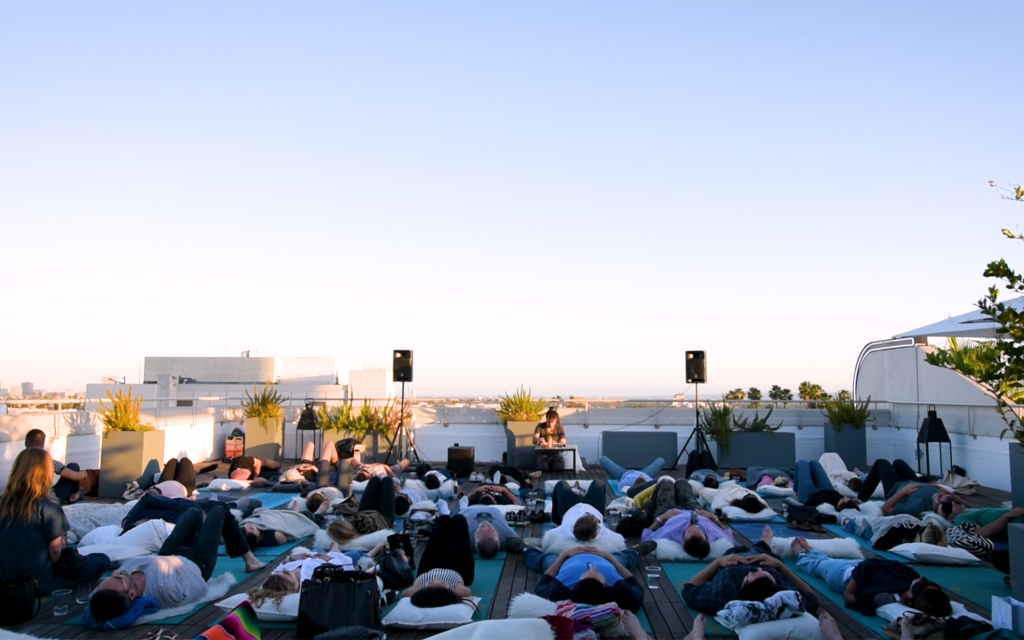 Video: LA Cannabis Edibles Company Lord Jones Throws Rooftop Sound Bath Events and They