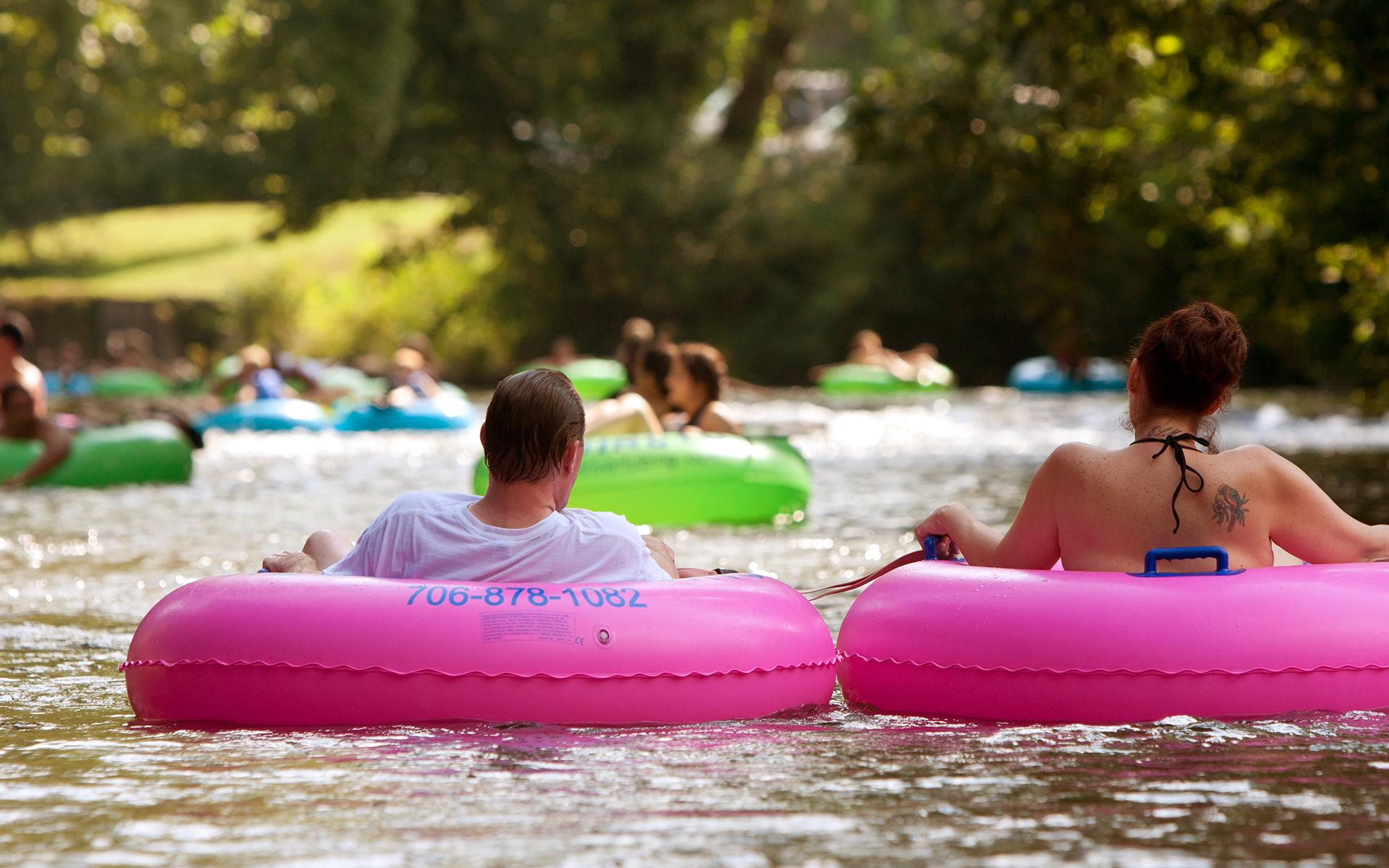Lazy river floating
