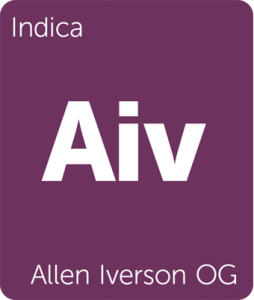 Allen Iverson OG Leafly cannabis strain tile