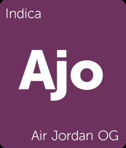 Air Jordan OG Leafly cannabis strain tile