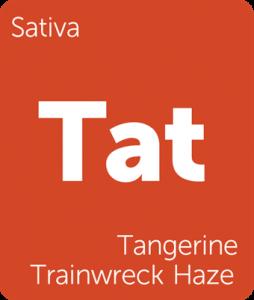 Tangerine Trainwreck Haze Leafly cannabis strain tile