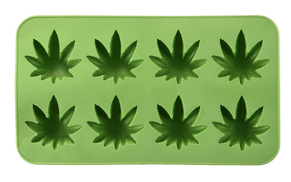 Cannabis Leaf Ice Cube Tray from Fairly Odd Novelties
