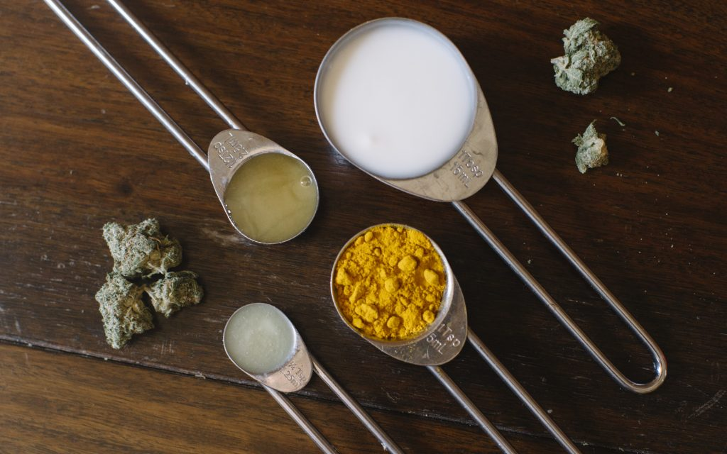 DIY cannabis and yogurt face mask