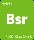 CBD Blue Shark Leafly Cannabis strain tile