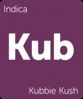 Kubbie Kush Leafly cannabis strain tile