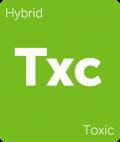 Toxic Leafly cannabis strain tile