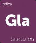 Leafly Galactica OG indica cannabis strain