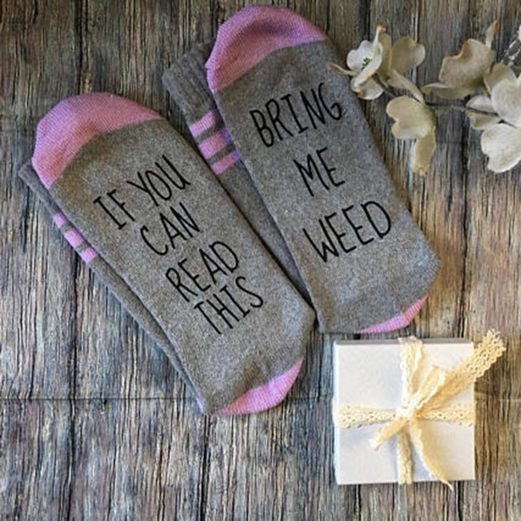 Cozy and warm weed socks