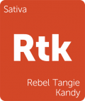 Rebel Tangie Kandy Leafly cannabis strain tile