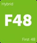 Leafly First 48 hybrid cannabis strain