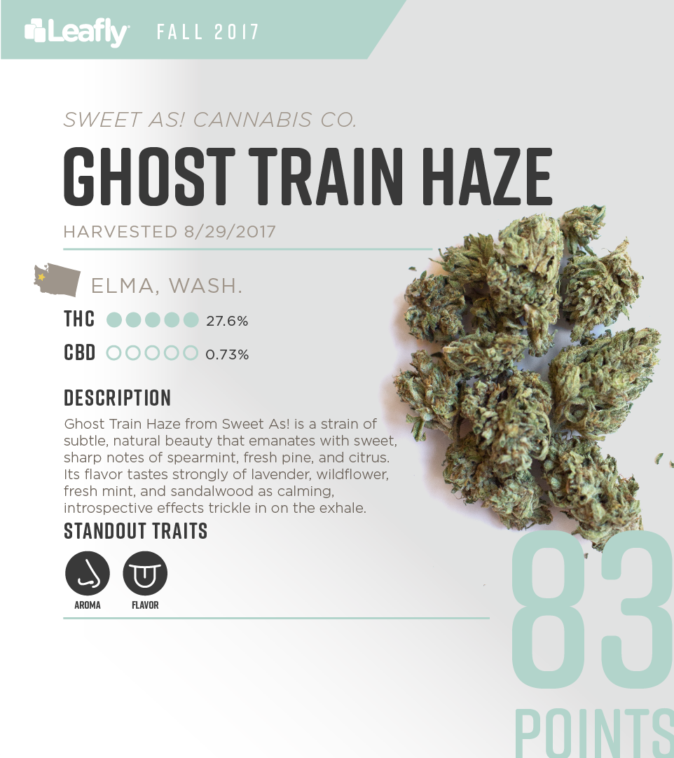 Sweet As1 Cannabis Co.'s Ghost Train Haze: the 2nd-best-tasting strain in Washington state for fall 2017