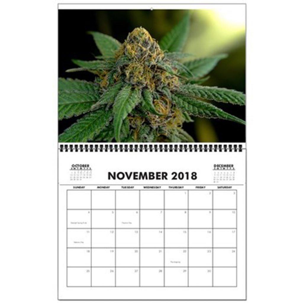 Marijuana Wall Calendar