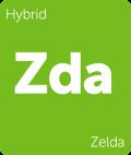Zelda Leafly cannabis strain tile