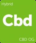 CBD OG Leafly cannabis strain tile