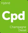 Champagne Diesel marijuana strain tile
