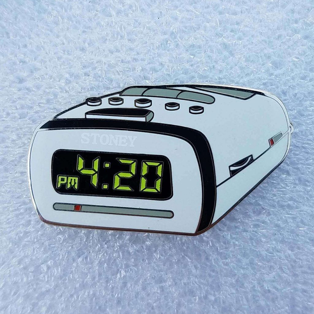 Cool Weed Pin/Button #2: 420 Cannabis Clock Pin by Phat Pins