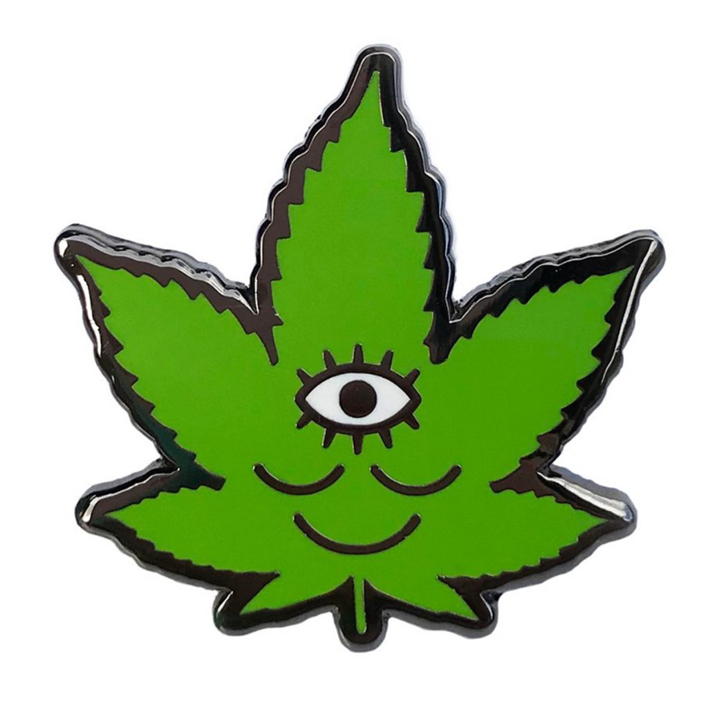Cool Weed Pin/Button #10: Wokeface Tokeface Pin by Wokeface