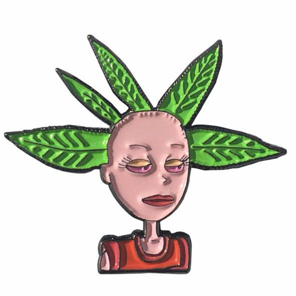 Cool Weed Pin/Button #3: Cynthia Pin by Headies Vegas