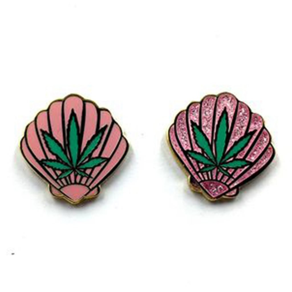 Cool Weed Pin/Button #1: Sea Weed Pin by Penelope Gazin