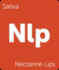 Leafly sativa Nectarine Lips cannabis strain tile