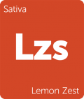 Leafly sativa Lemon Zest cannabis strain tile