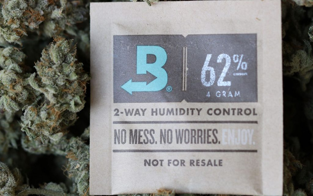 How to keep your weed fresh: Boveda humidity packs.