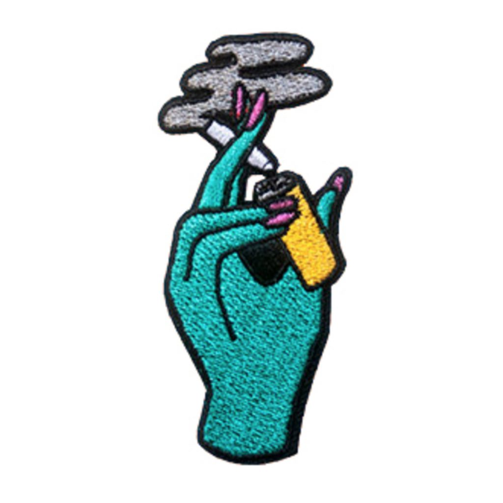 Iron on weed patch #3: Smoking Joint Patch by Danny Brito