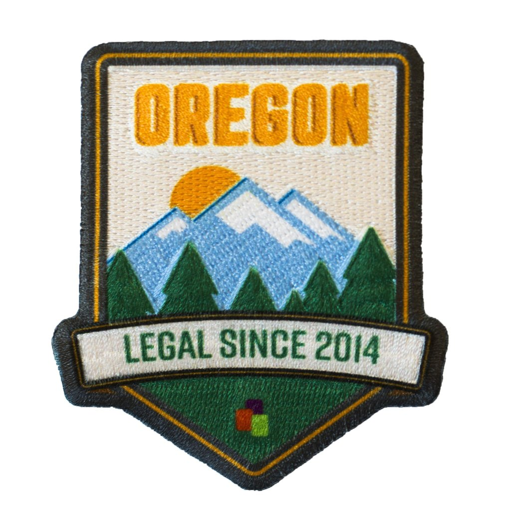 Iron on weed patch #5: Leafly Cannabis Legalization State Patch by Leafly