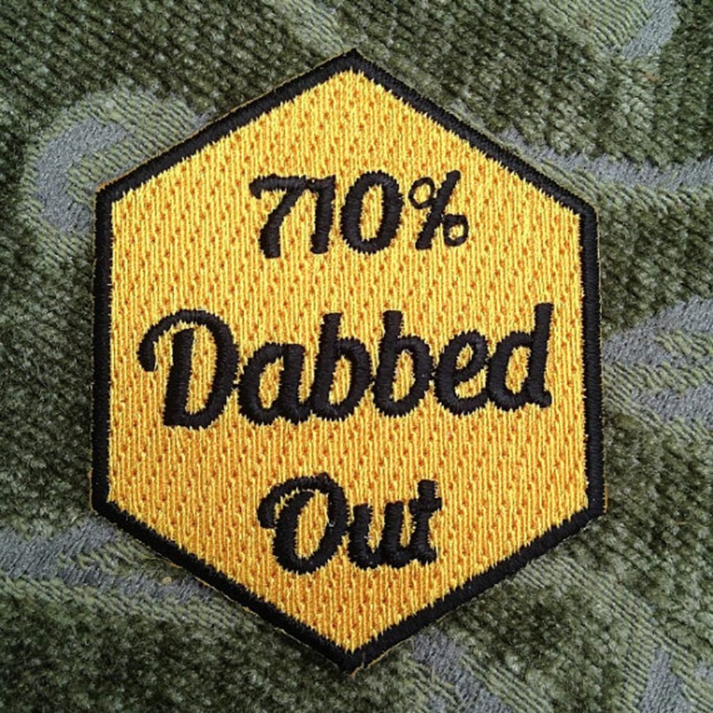 Iron on weed patch #6: 710% Dabbed Out Patch by Trippy Pins