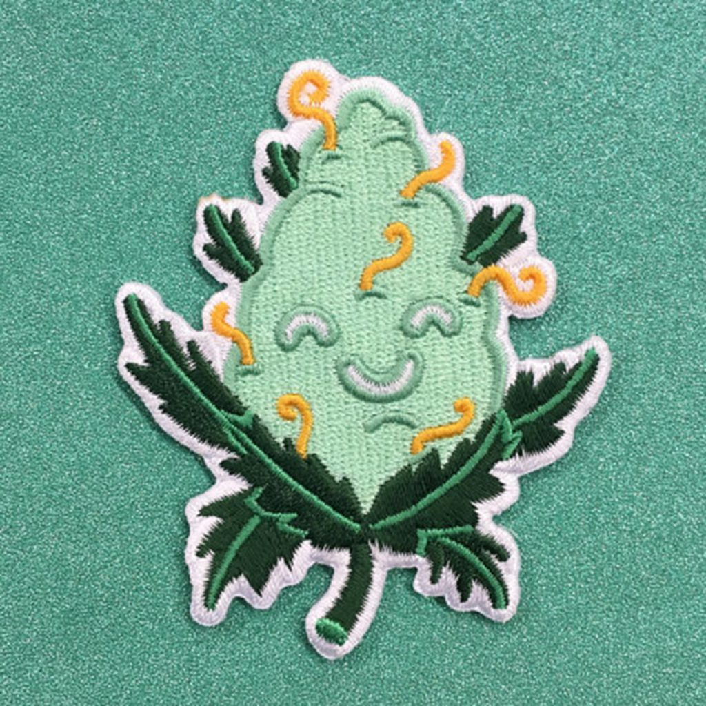 Iron on weed patch #12: Cute Weed Patch by Es Súper Fun