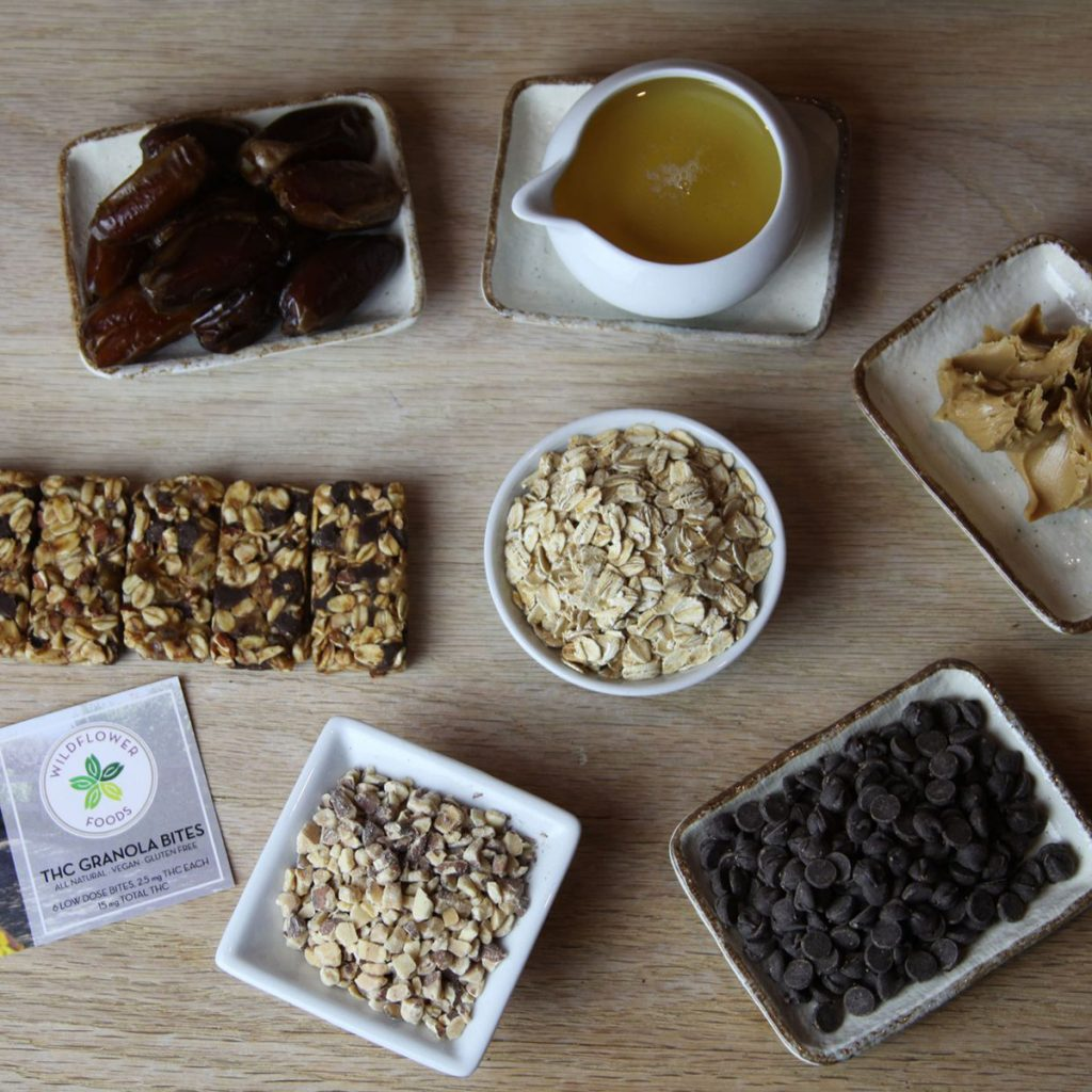 Weed Microdosing Edible Product #5: Peanut Butter & Chocolate Granola Bites by Wildflower Foods