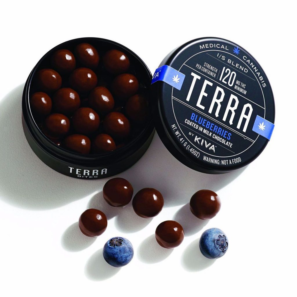 Weed Microdosing Edible Product #6: Blueberry Terra Bites by Kiva Confections